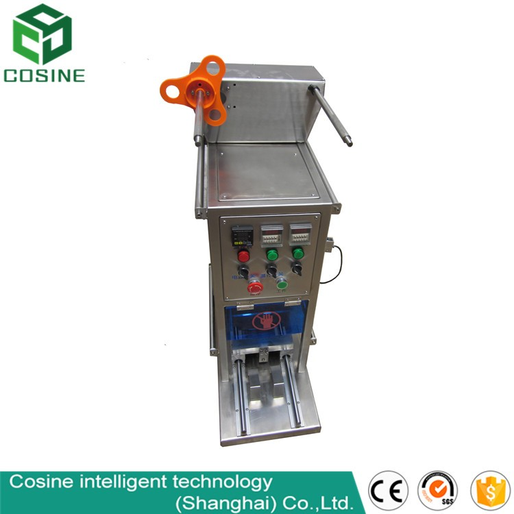 automatic cup sealing machine forcheep packing machine/film continue cheep packing machine/hot band sealer