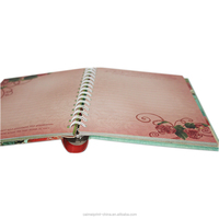 hardcover spiral metal binding notebook printing