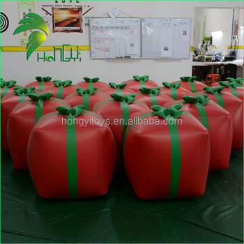 Christmas Decorative Inflatable Gift Box , Customized Inflatable Decoration For Sale