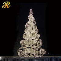 New style white rattan cone christmas tree