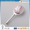 Manufacturer hot sales Pink Toy Silver Plated Rattle for Baby Souvenir