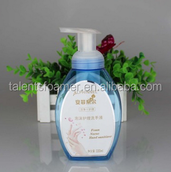 Elegant cute liquid soap dispenser plastic pump with foam pump