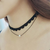 The new double retro short lace collar female necklace pearl necklace