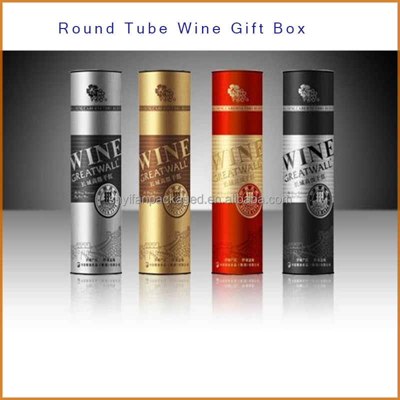OEM logo printed Luxury Gift tube box cardboard tubes