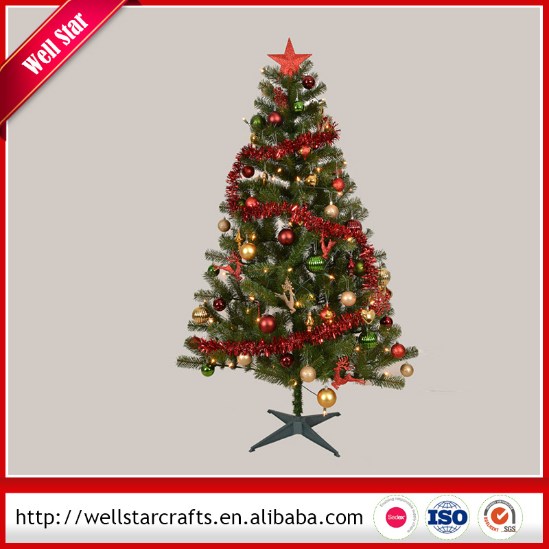 China Manufacturer Colorful decoration ornament dress up artifical christmas tree