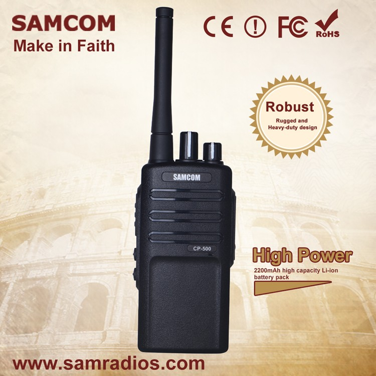 Good Price Portable 5W SAMCOM CP-500 Two Way radio for business