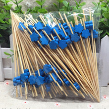Flower Shape Design Barbecue Skewer Festival Floral Fruit Wood Picks Cocktail Sticks