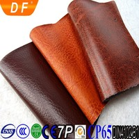 PVC knitted 55 inch width composite leather for sofa