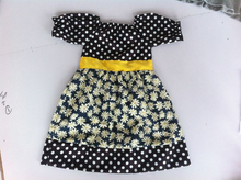 han edition new dress summer 2014 for girl polka dot flower latest dress design for kids made in China