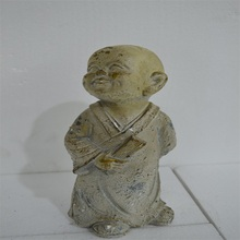 Resin young monk statue statue For Sale, fiberglass little monk figurine