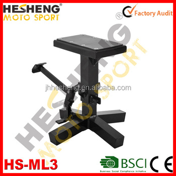 Motorcycle Aluminum adjustable lift table stand Black Hardcoat HS-ML3