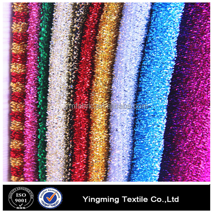 100%polyester shiny knitted lurex fabric