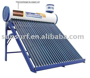 copper coils solar heaters