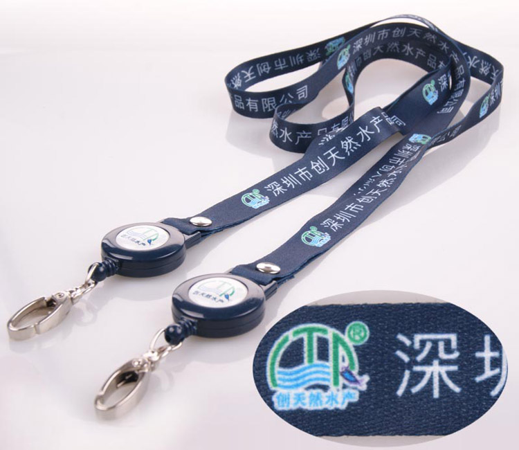 2017 High quality your design cheap polyester neck strap key chain lanyards for badges