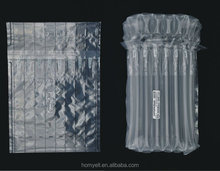 Compatible 8 column transparent toner Q-cap air cushion wrap bag/airbags for packing/protective packaging material