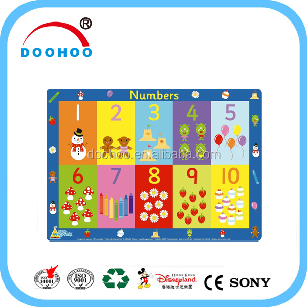 Wholesale Recyclable Plastic pp placemat for kids