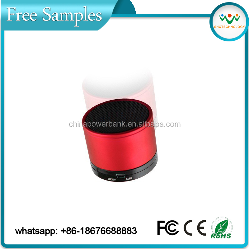 s10 bluetooth mini round music digital wireless bluetooth speaker with TF Slot