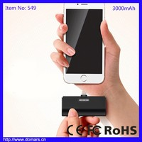 Super Mini Pocket Size Power Bank 3000mAh Rechargeable Power Supply