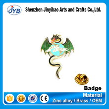 custom metal pilot wings printing dragon pin badges