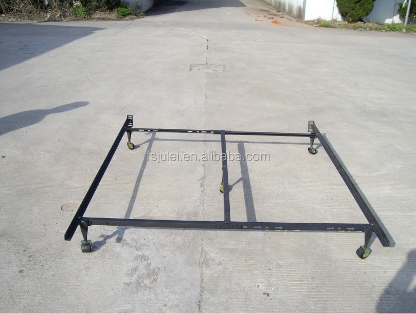 6-Leg Support System Adjustable Wrought Iron Angle Bed Frame