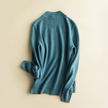New women's pure color cashmere sweater