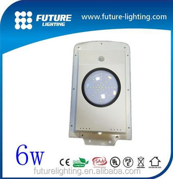 6W Waterproof IP65 Motion Sensor Integrated Solar Street Light