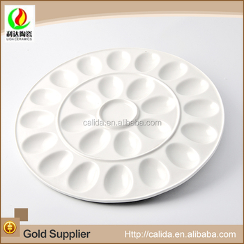 Wholesale high quality round shape 24 piece egg cheap porcelain plate