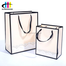 China Best No Minimum Custom Pink Colored Cosmetic Paper Bags