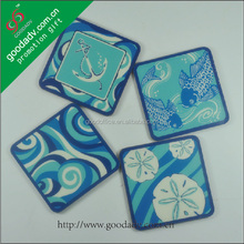2014 New products popular ecological lovely MDF cork coaster