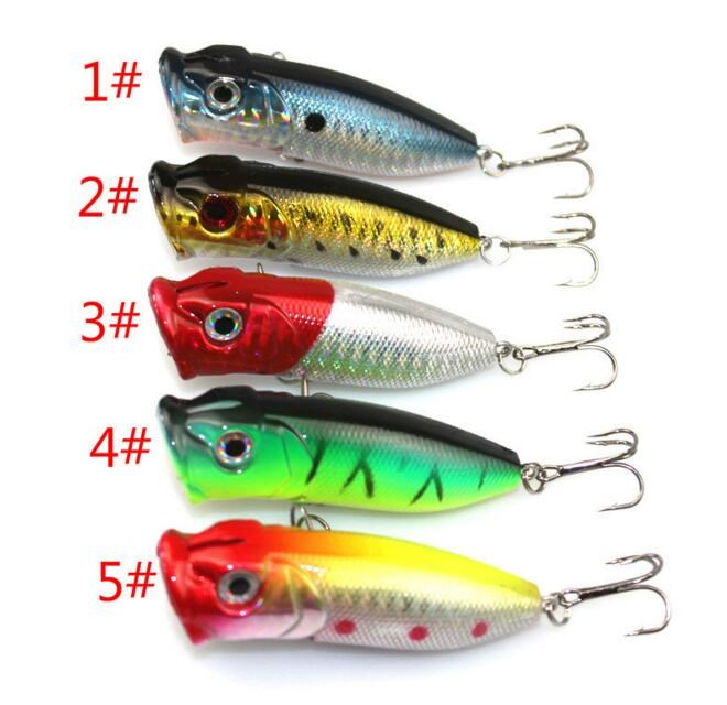 Fishing Lure 6.5cm High Quality Floathing Lure Hard Bait Plastic Fishing Tackle 5 colors Available