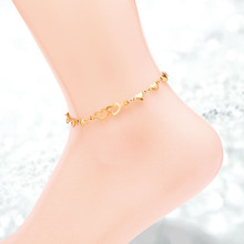 Double Heart Anklets For Women Stainless Steel Jewelry Gold Anklet Designs