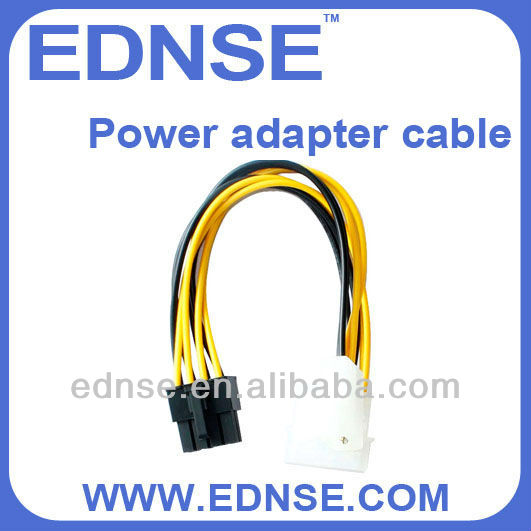 EDNSE Power adapter cable molex 8-pin sata power cable