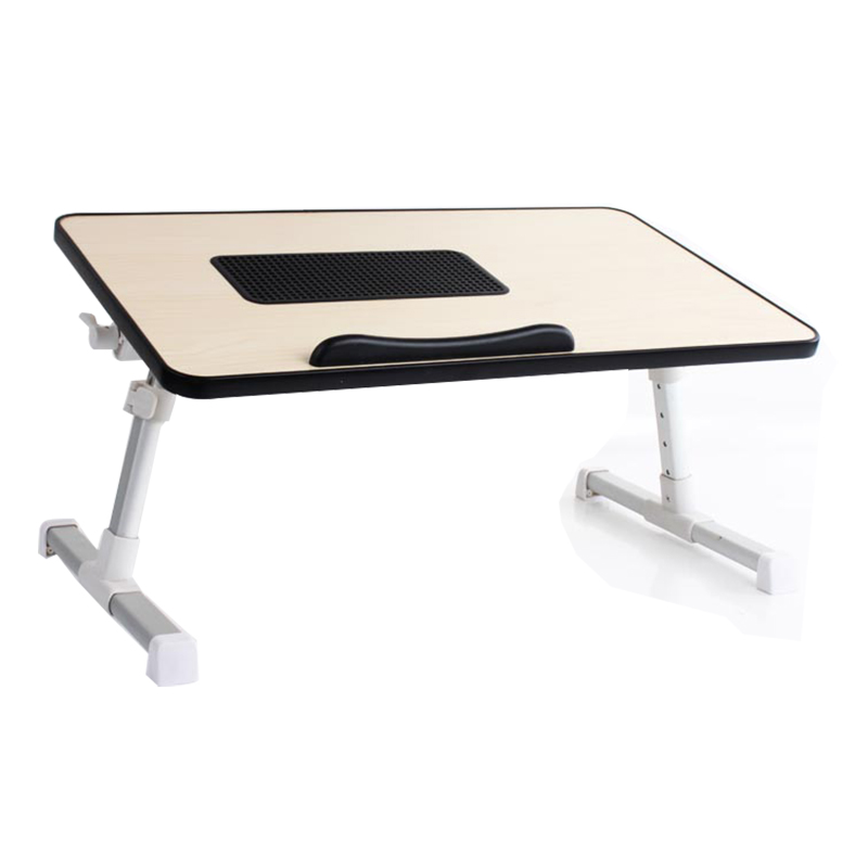 Wooden Adjustable PC Holder Portable Bed Laptop Table