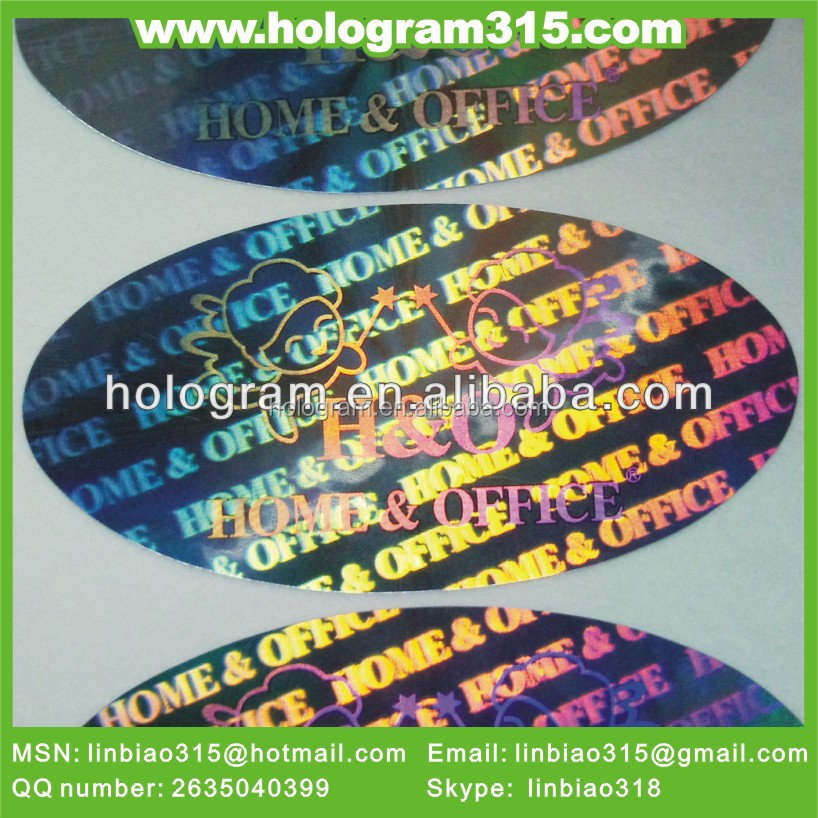 custom adhesive 3d hologram label printing