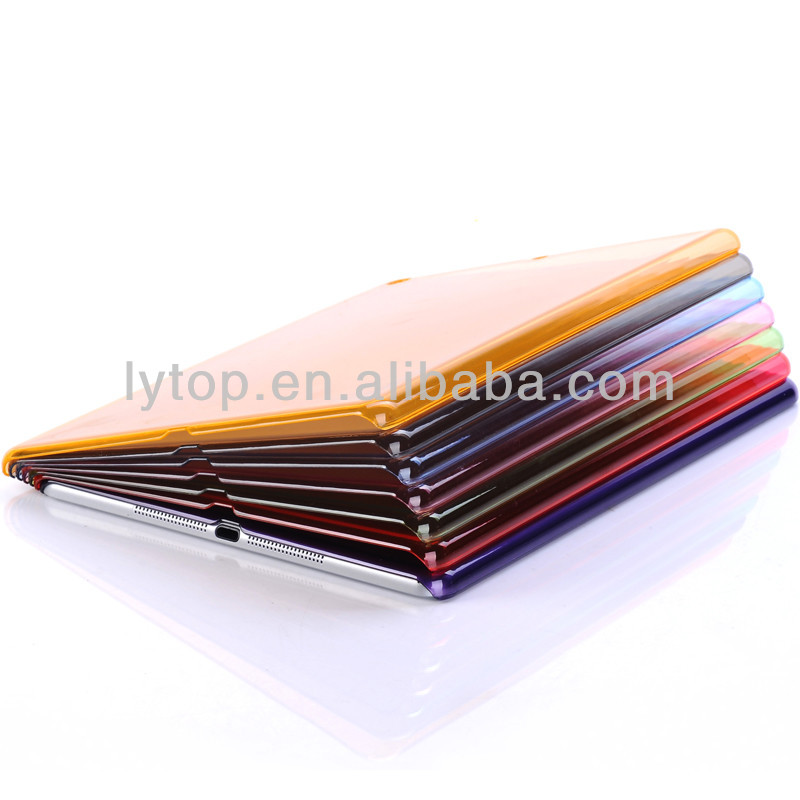 wholesale transparent pc case for ipad air, for i pad air case