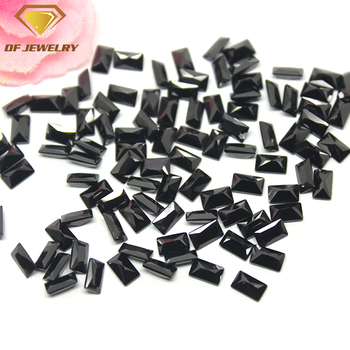 Baguette Cut Color Gemstone Synthetic Black Cubic Zirconia