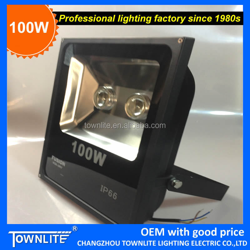 outdoor led flood light 100w, cob led floodlight fixture 100 watt with lens