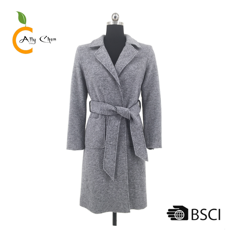 Soft handfeel overcoats fashion winter women boiled cooked wool coat