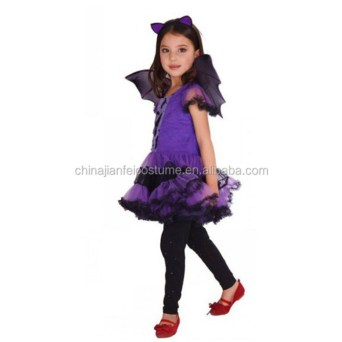 Wholesale Fairy Wings Halloween Costume Children's Party Dress Up Bat Wings Tutu Skirt Set