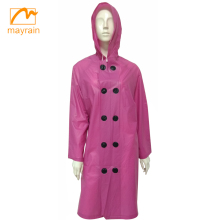 Ladies Fashion PVC Trench coat Women Fashion Coat 2018