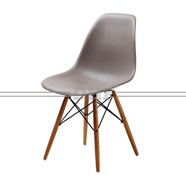 Cheap Waiting Room Plastic Chair With Wooden Leg