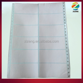 perforated paper label zig-zag folded perforated label with holes