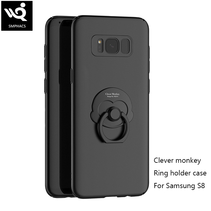 0.9mm Metal-Texture Thin PC Cover <strong>Case</strong> For Samsung Galaxy S8 With Holder