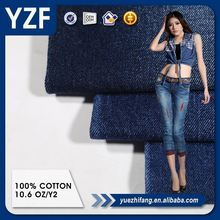 cotton stretch denim fabric cheap price high quality indigo color new fashion scratch jeans fabric for jeans