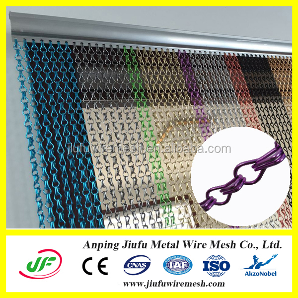 Latest Design Hanging Metal Mesh Door Curtain