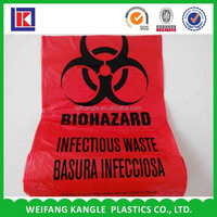 plastic autoclavable Biohazard Collection Bags for medicine