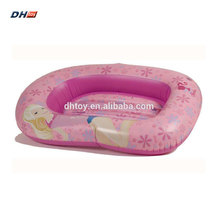 plastic inflatable boat with paddle for children
