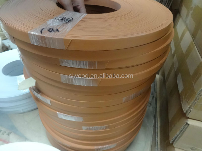 2017 best price good quality Environment protection PVC edge banding thickness 0.3-3.5mm wood grain,solid color texture packing