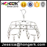 Wholesale popular stainless steel foldable hanging clothes drying rack