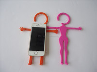 Funny Car Accessory Man Shape Flexible Silicone Cell Phone Holder